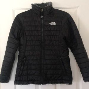 North Face reversible puffer- size Large youth
